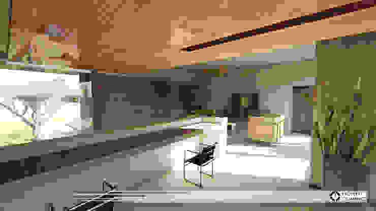 Couloir, entrée, escaliers modernes par Property Commerce Architects Moderne