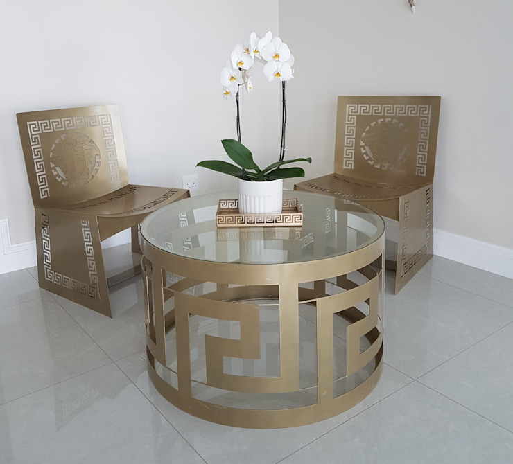Infinity Coffee Table: modern  by Metallica Steel, Modern Iron/Steel