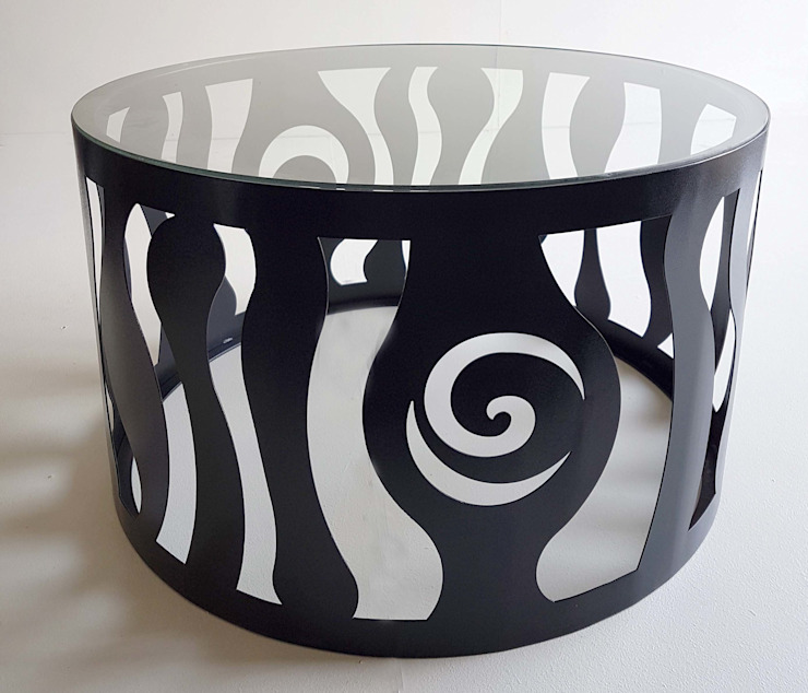 Psychedelic Coffee Table: modern  by Metallica Steel, Modern Iron/Steel