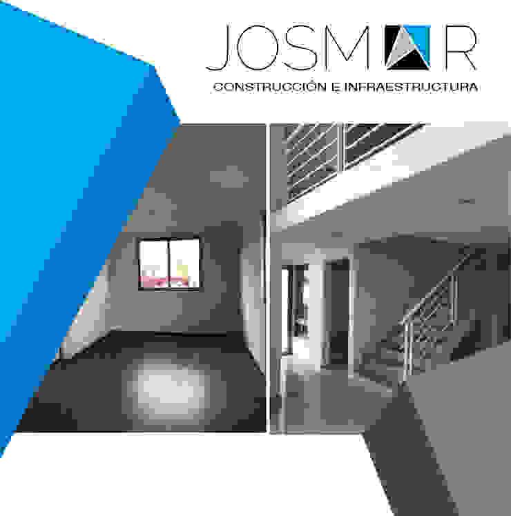 JOSMAR CONSTRUCCIÓN E INFRAESTRUCTURA 現代風玄關、走廊與階梯 White