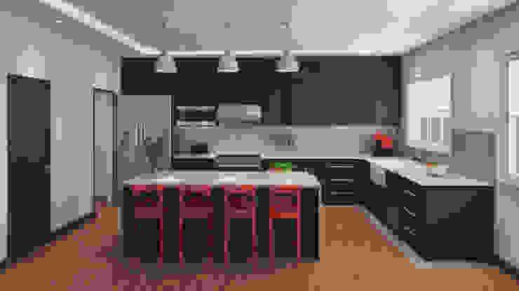 مطبخ ذو قطع مدمجة تنفيذ A. C. Arquitectura y diseño