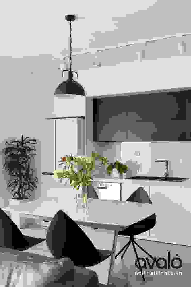 Căn hộ phong cách Avalo Đương Đại Nhà bếp phong cách Bắc Âu bởi Công ty cổ phần NỘI THẤT AVALO Bắc Âu