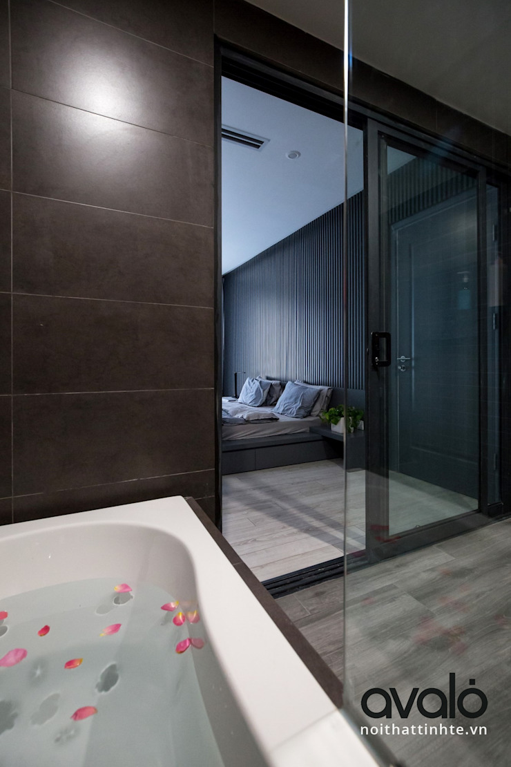 Căn hộ phong cách Avalo Đương Đại Phòng tắm phong cách Bắc Âu bởi Công ty cổ phần NỘI THẤT AVALO Bắc Âu