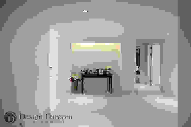 광장동 현대홈타운 53평형 복도 아트월 모던스타일 복도, 현관 & 계단 by Design Daroom 디자인다룸 모던