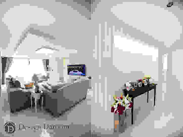 광장동 현대홈타운 53평형 복도 아트월 모던스타일 거실 by Design Daroom 디자인다룸 모던