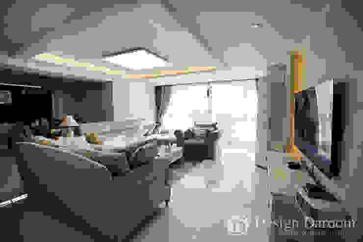 광장동 현대홈타운 53평형 거실 모던스타일 거실 by Design Daroom 디자인다룸 모던