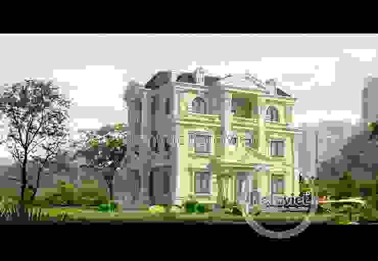 Phối cảnh thiết kế biệt thự 3 tầng phong cách Pháp cổ (CĐT: Ông Điển - Nha Trang) BT15020 bởi Công Ty CP Kiến Trúc và Xây Dựng Betaviet