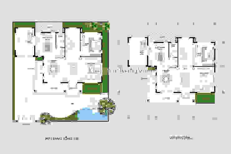 Mặt bằng tầng 1 mẫu thiết kế biệt thự đẹp 3 tầng Hiện đại (CĐT: Ông Hữu - Vĩnh Phúc) BT16020 bởi Công Ty CP Kiến Trúc và Xây Dựng Betaviet