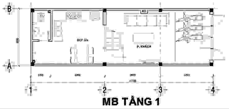 Tư Vấn Thiết Kế Xây Nhà 2 Tầng Có Sân Thượng Với Chi Phí 640 Triệu bởi Công ty TNHH Xây Dựng TM – DV Song Phát Hiện đại