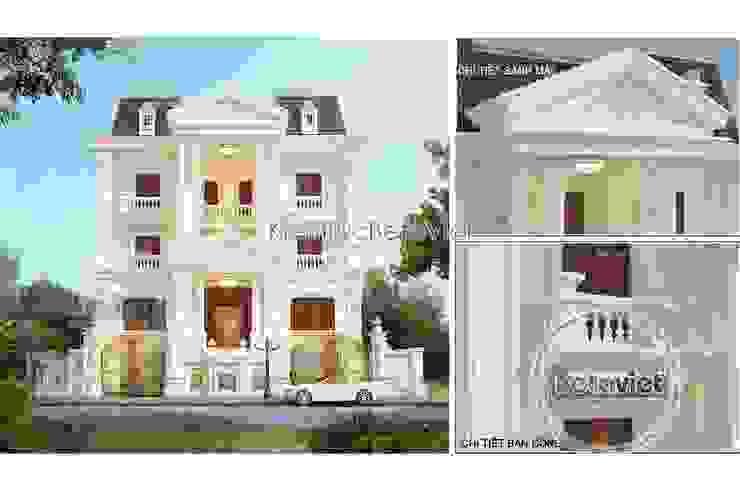 Phối cảnh mẫu thiết kế biệt thự đẹp 3 tầng Cổ điển (CĐT: Ông Mạnh - Hà Nội) KT16019 bởi Công Ty CP Kiến Trúc và Xây Dựng Betaviet