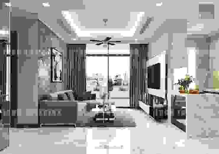 Thiết kế nội thất cao cấp dành cho căn hộ Vinhomes Central Park bởi ICON INTERIOR Hiện đại