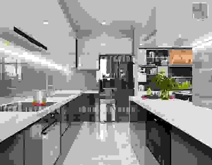 Thiết kế nội thất cao cấp dành cho căn hộ Vinhomes Central Park Nhà bếp phong cách hiện đại bởi ICON INTERIOR Hiện đại