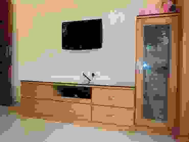 Sathyanarayanan Home Interior Design-2, Bangalore Asian style living room by Bhavana Interiors Decorators Asian