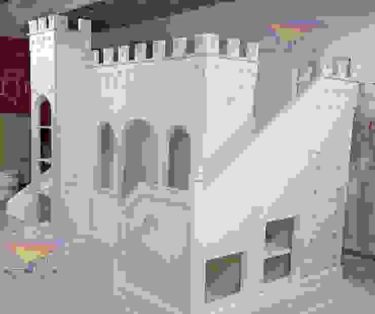 Hermoso castillo Opulento de camas y literas infantiles kids world Clásico Derivados de madera Transparente