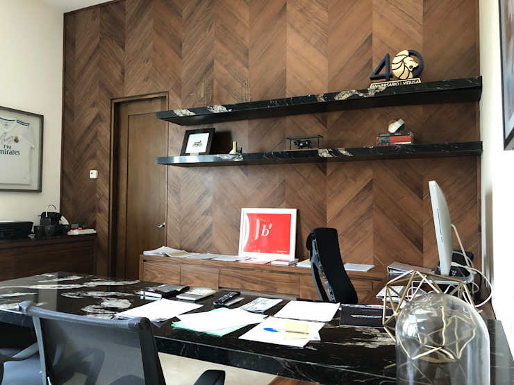 Prívate Office Modern Study Room and Home Office by BURO DE DISEÑO Modern Wood Wood effect
