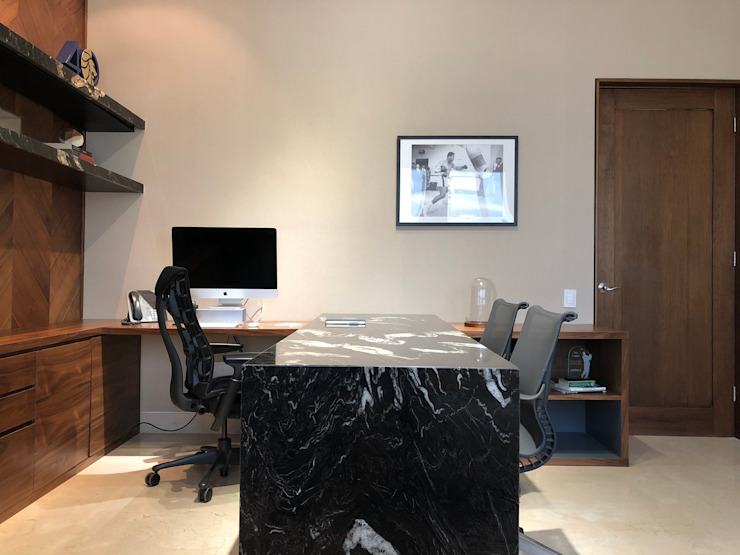 Prívate Office Modern Study Room and Home Office by BURO DE DISEÑO Modern Granite