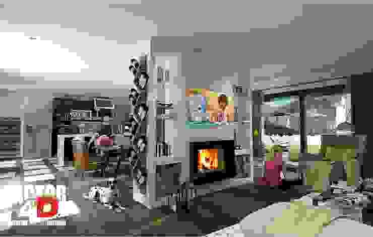 Virtual3D#002 Salas de estar modernas por Factor4D - Arquitetura, Engenharia & Construção Moderno