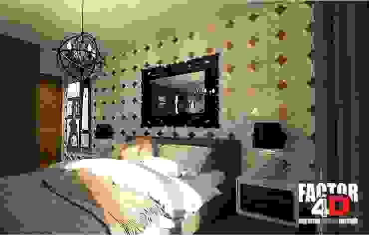 Factor4D - Arquitetura, Engenharia & Construção Dormitorios de estilo ecléctico