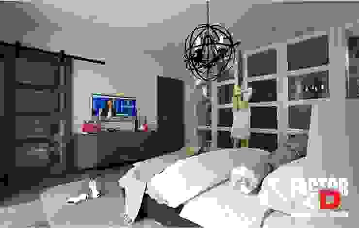 Virtual3D#004 Quartos modernos por Factor4D - Arquitetura, Engenharia & Construção Moderno