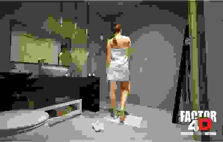 Virtual3D#005 Casas de banho modernas por Factor4D - Arquitetura, Engenharia & Construção Moderno