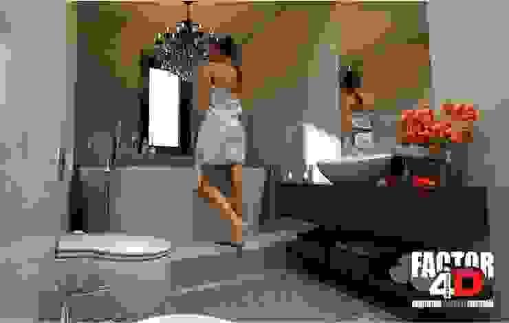 Virtual3D#006 Casas de banho ecléticas por Factor4D - Arquitetura, Engenharia & Construção Eclético