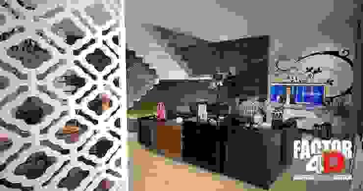 Virtual3D#010 Salas de estar modernas por Factor4D - Arquitetura, Engenharia & Construção Moderno