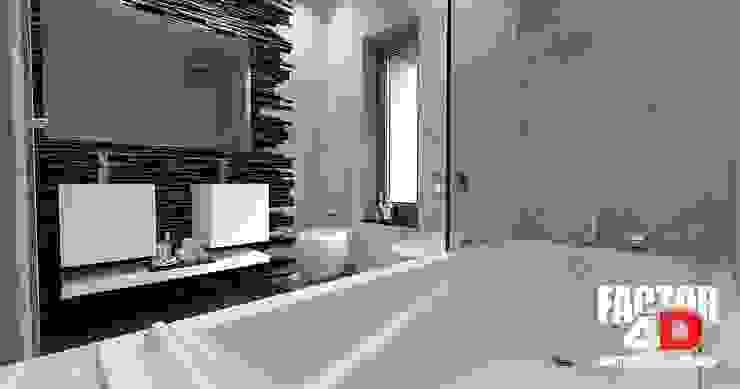 Virtual3D#012 Casas de banho modernas por Factor4D - Arquitetura, Engenharia & Construção Moderno