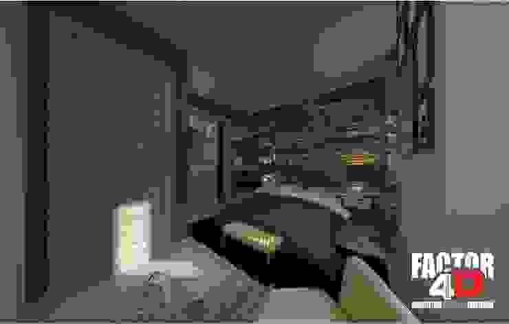Virtual3D#013 Quartos modernos por Factor4D - Arquitetura, Engenharia & Construção Moderno