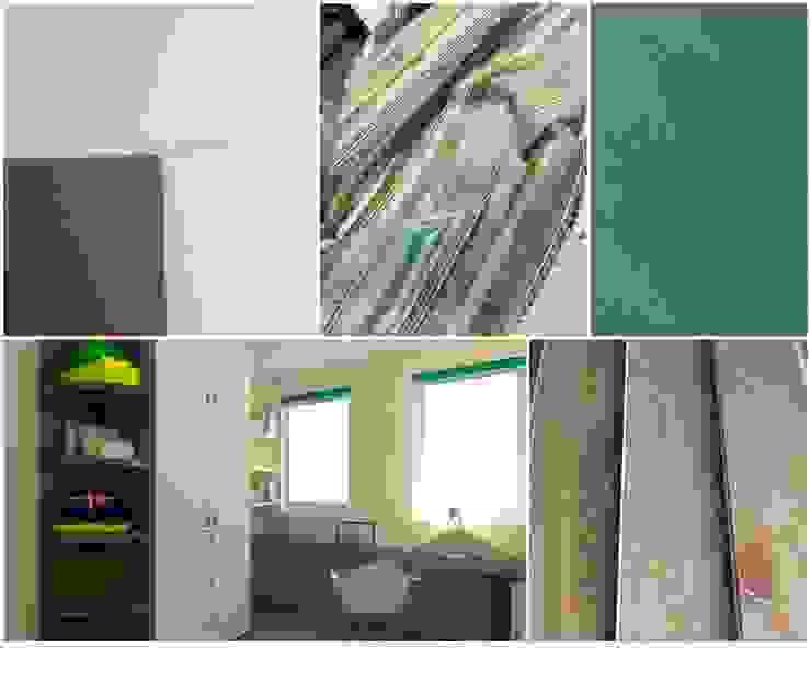 materialen en kleuren voor kinderkamer met meubels op maat: modern  door Stefania Rastellino interior design, Modern