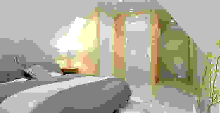 slaapkamer op zolder van Stefania Rastellino interior design