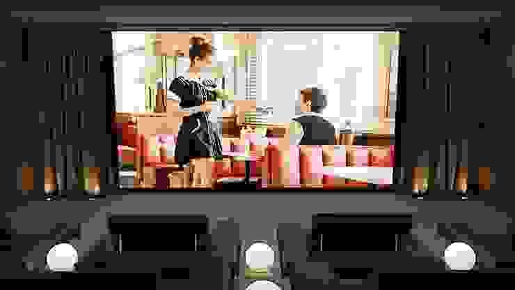 Home Cinema Room showing Film Custom Controls Ruang Keluarga Modern