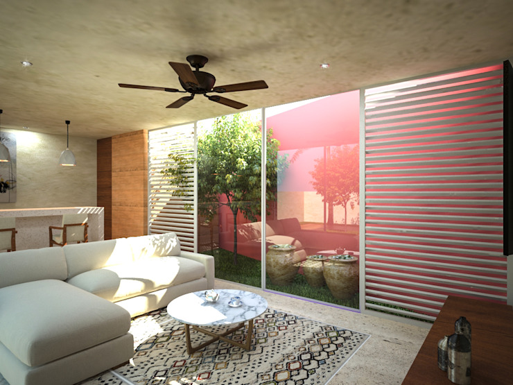 Bar Abuelo Bares y clubs de estilo tropical de Sitma Arquitectura Tropical