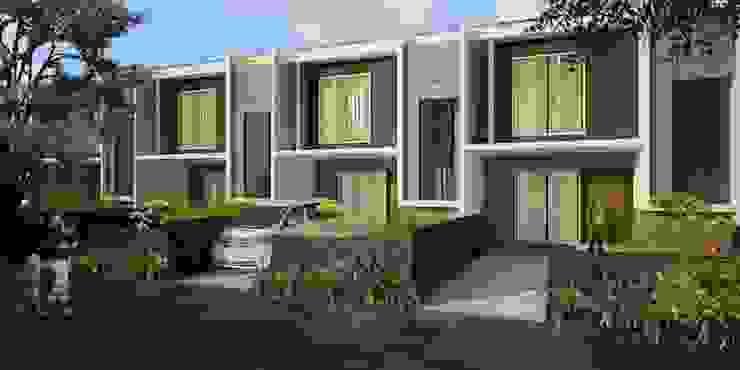 3D illustration Dinding & Lantai Modern Oleh Kahuripan Architect Modern Batu Bata
