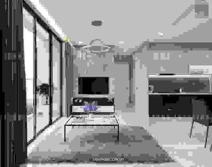 Thiết kế nội thất phong cách Châu Âu hiện đại cho căn hộ Landmark 5 Vinhomes Central Park bởi ICON INTERIOR Hiện đại