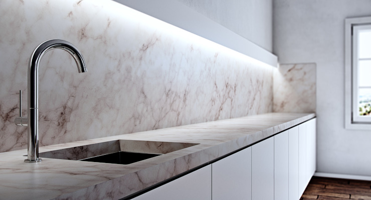 Kitchen Counter and Basin by 7Storeys Minimalist