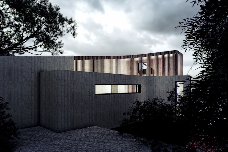 Exterior Back View by 7Storeys Minimalist
