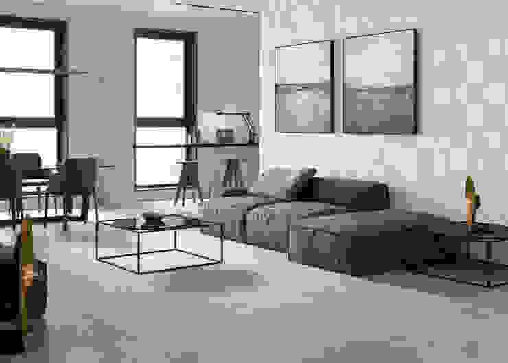 Heritage Gris 40x120 / Heritage Gris 75x150 Salones de estilo moderno de Azulev Moderno Cerámico