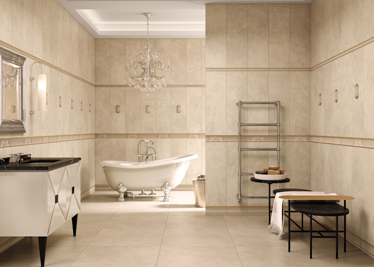 Delice Marfil 29x89 Rectificado Baños de estilo moderno de Azulev Moderno Cerámico