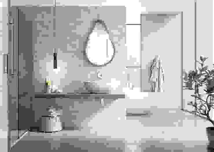 Delice Gris 29x89 Rectificado Baños de estilo moderno de Azulev Moderno Cerámico