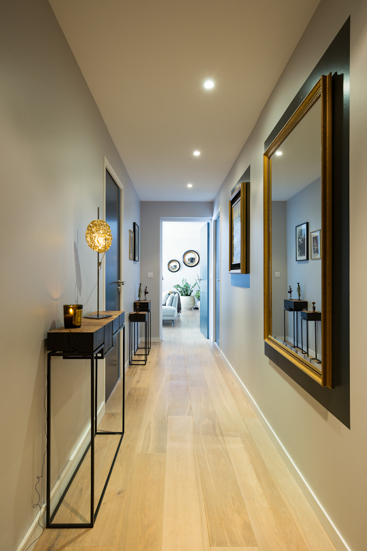 Modern Corridor, Hallway and Staircase by Julie Chatelain Modern