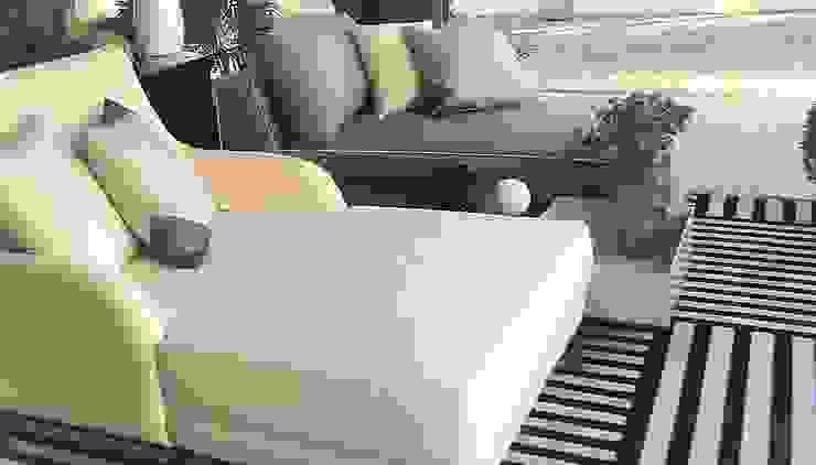 Sgabello Interiores Balconies, verandas & terraces Furniture Cotton Beige