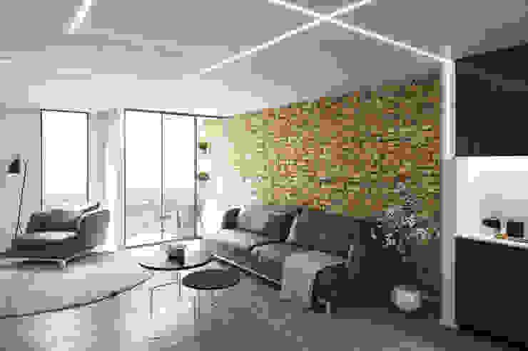 Lounge Minimalist living room by 7Storeys Minimalist