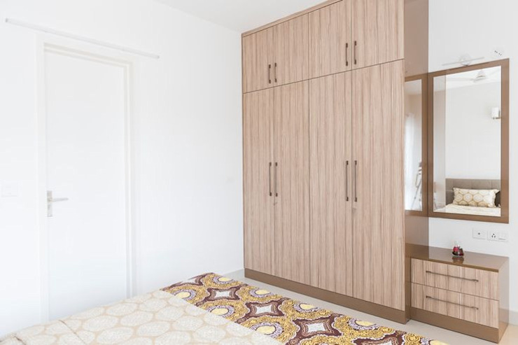 Completed Wardrobe designs Classic style bedroom by HomeLane.com Classic