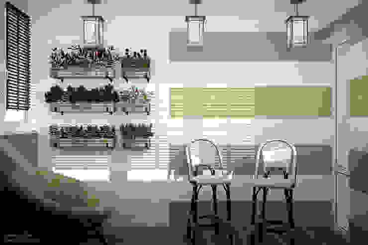 Minimalist kitchen by Студия интерьерного дизайна happy.design Minimalist