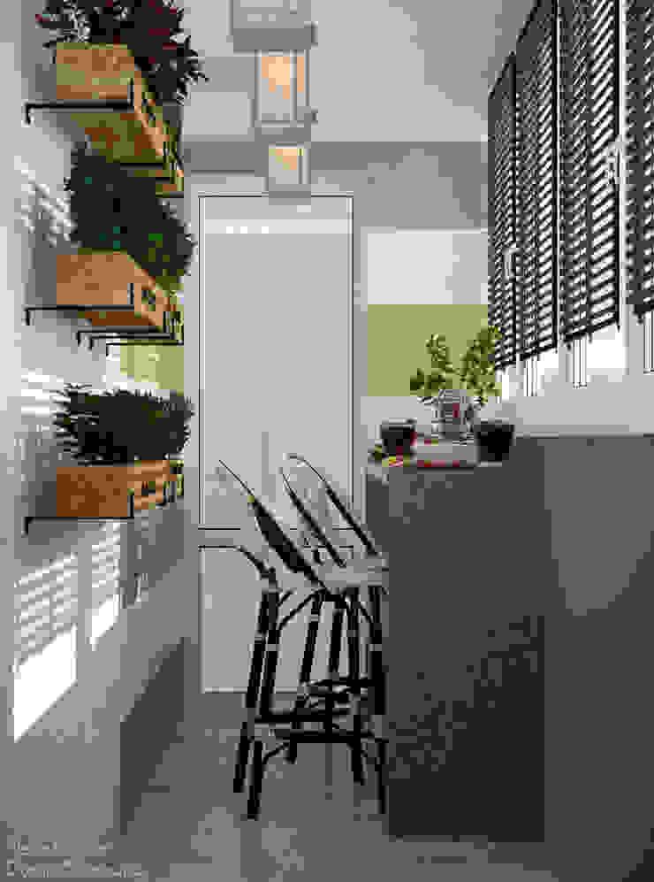 Country style kitchen by Студия интерьерного дизайна happy.design Country
