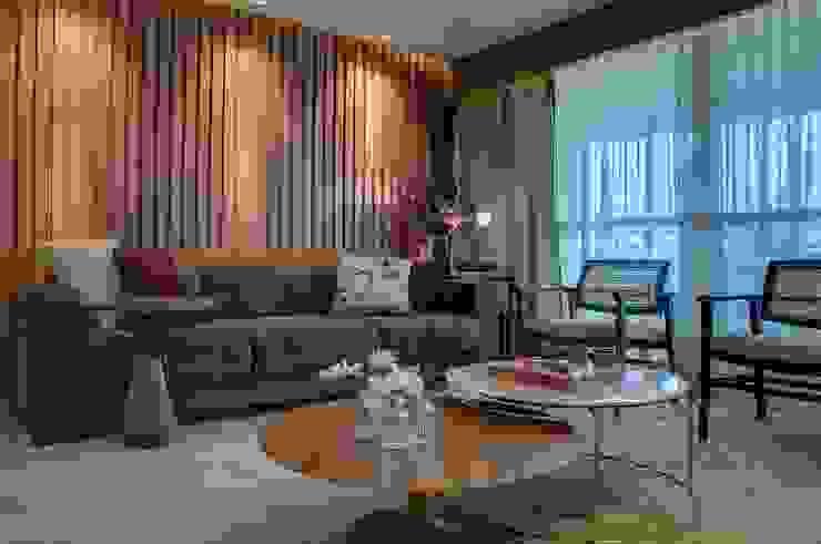 Salones de estilo moderno de Dome arquitetura Moderno