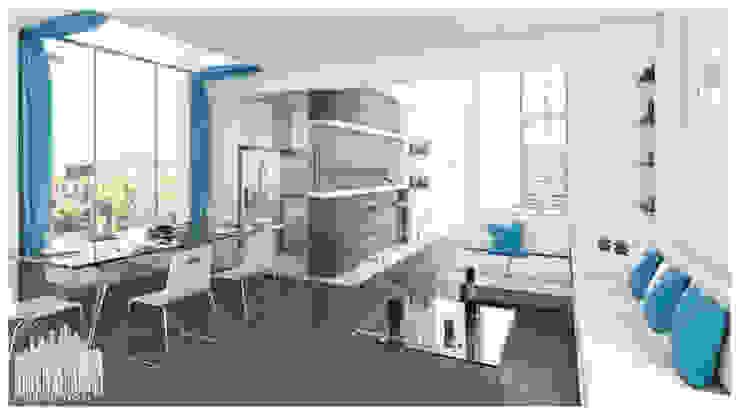 Casa de Playa – Mejía Comedores de estilo moderno de Inception Architects Moderno Concreto
