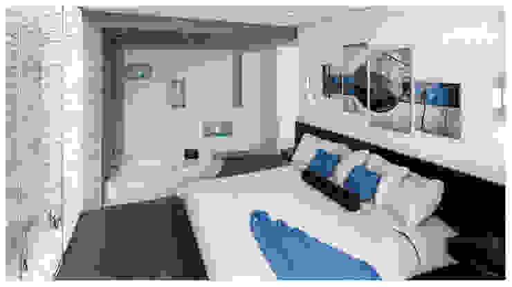 Casa de Playa – Mejía Dormitorios de estilo moderno de Inception Architects Moderno Concreto