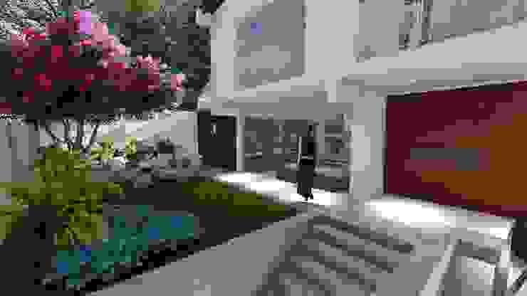Remodelacion fachada principal de Vida Arquitectura Moderno Vidrio