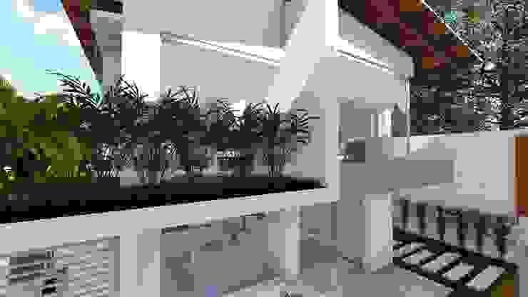 Fachada posterior Casas modernas de Vida Arquitectura Moderno Vidrio